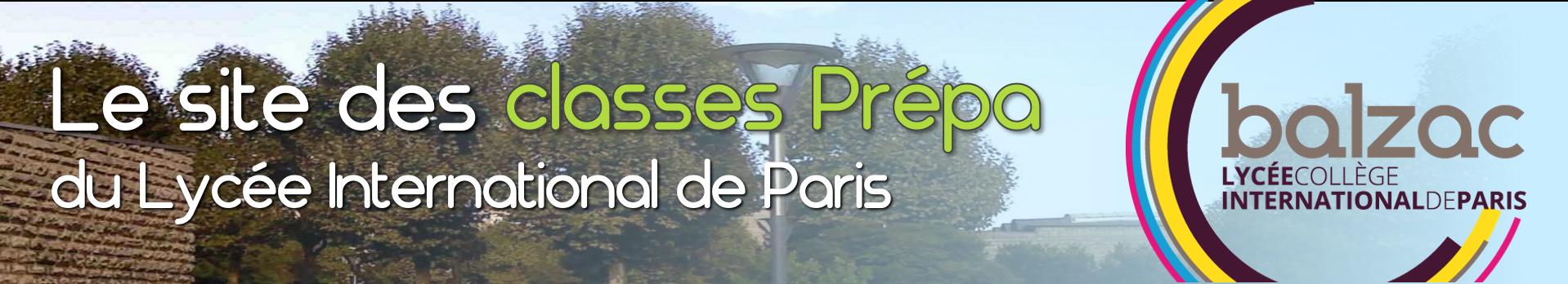 Les Prépas du lycée Balzac